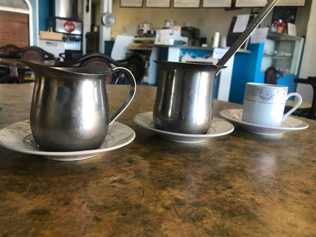 Greek coffee at Baladie Cafe, 4872 W. Lone Mountain Road. (Kailyn Brown/View) @KailynHype