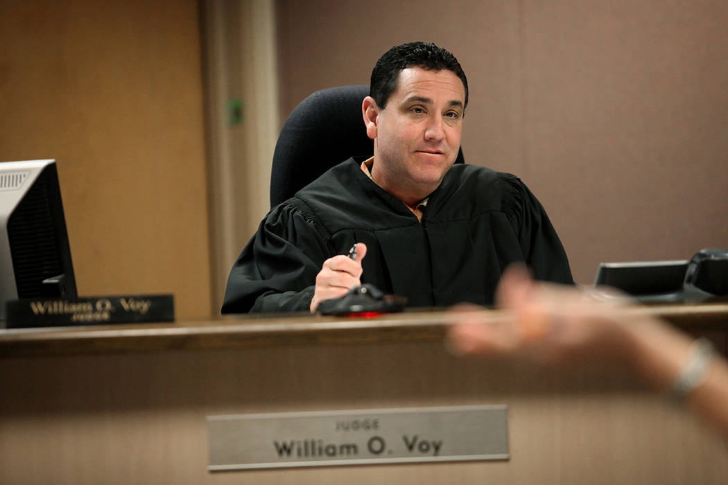 Judge William O. Voy, seen in 2013 (Las Vegas Review-Journal)