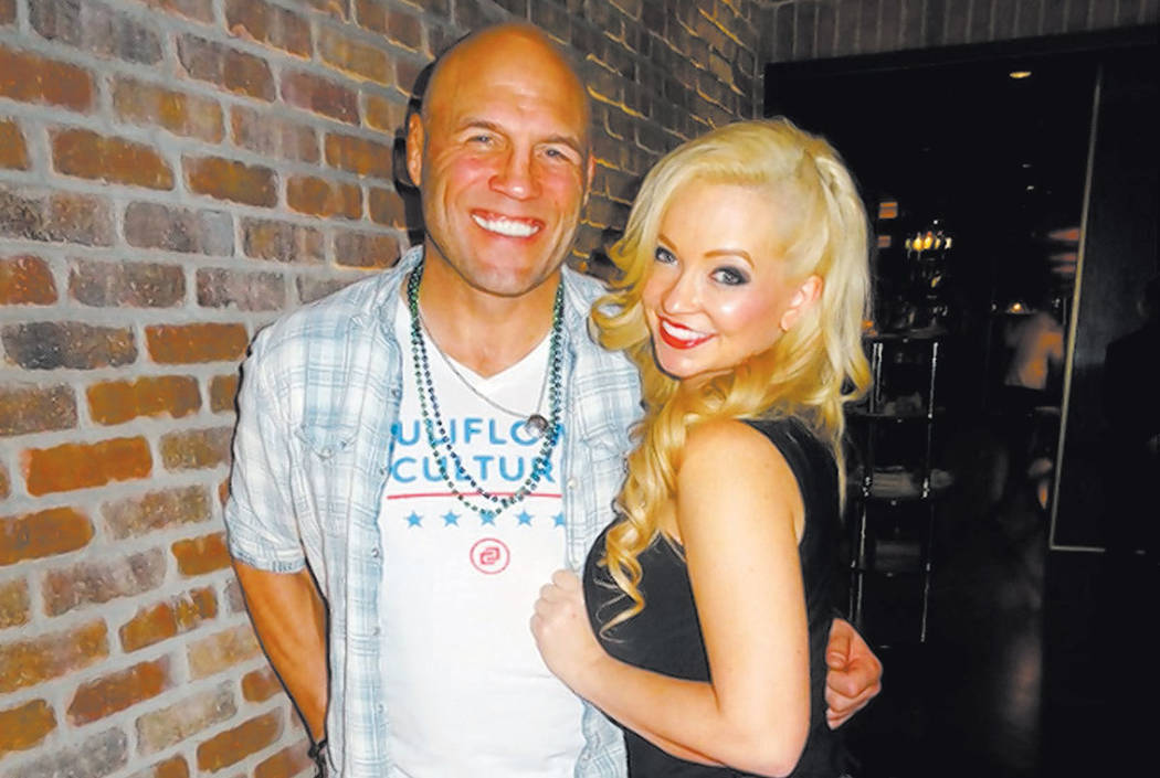 MMA hero Randy Couture and girlfriend Mindy Robinson at Andiamo Italian Steakhouse at the D hotel in Las Vegas. (Courtesy)