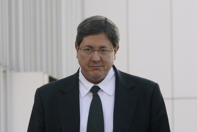 Polygamous sect leader Lyle Jeffs leaves the federal courthouse in Salt Lake City in 2015. (Rick Bowmer/AP)