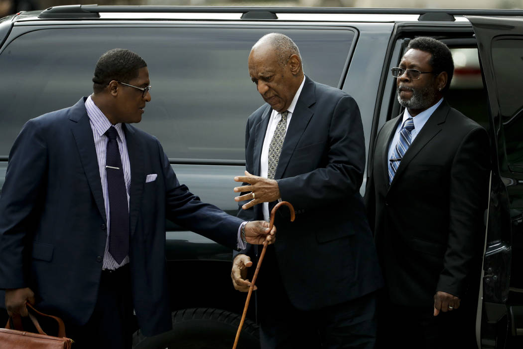 Bill Cosby arrives at the Montgomery County Courthouse on Thursday, June 15, 2017, in Norristown, Pa. (Matt Slocum/AP)