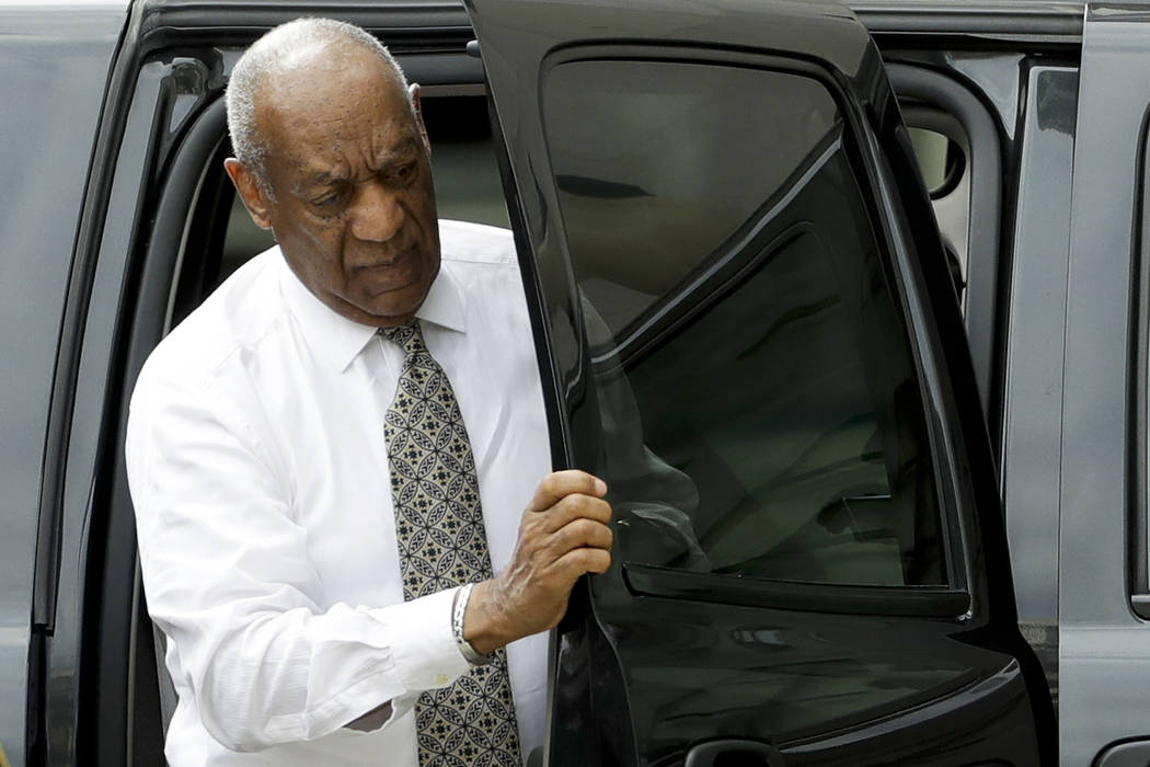 Bill Cosby arrives at the Montgomery County Courthouse during his sexual assault trial, Thursday, June 15, 2017, in Norristown, Pa. (Matt Slocum/AP)