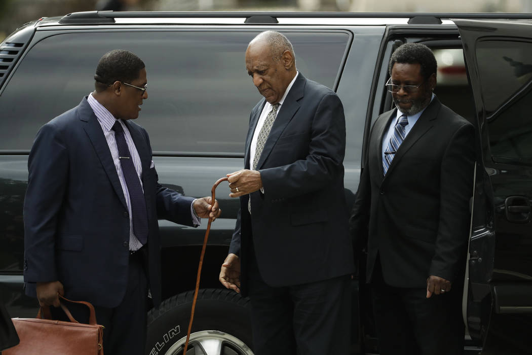 Bill Cosby arrives for his sexual assault trial at the Montgomery County Courthouse in Norristown, Pa., on Thursday, June 15, 2017. (Matt Slocum/AP)