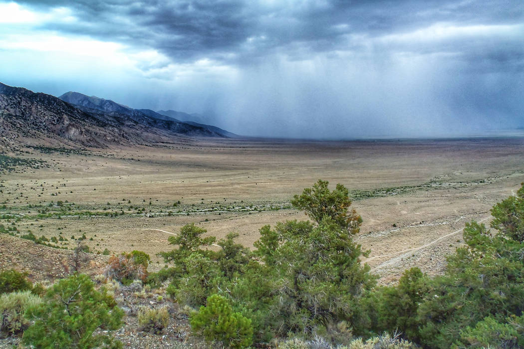 A storm moves through Big Smoky Valley in central Nevada, where the Bureau of Land Management offered parcels of public land for new oil and gas leases. No one bid on the parcels during an online  ...