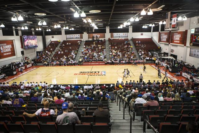 Fans watch a NBA Summer League game at the Cox Pavilion on Tuesday, July 12, 2016, in Las Vegas. Erik Verduzco/Las Vegas Review-Journal Follow @Erik_Verduzco