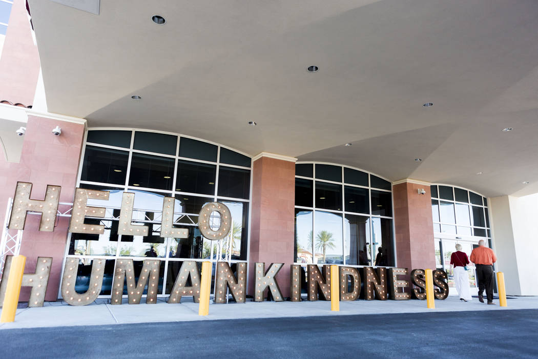 A sign welcomes visitors during a tour given of the new Dignity Health-St. Rose Dominican North Las Vegas campus, Thursday, June 15, 2017. Elizabeth Brumley/ The Las Vegas Review-Journal