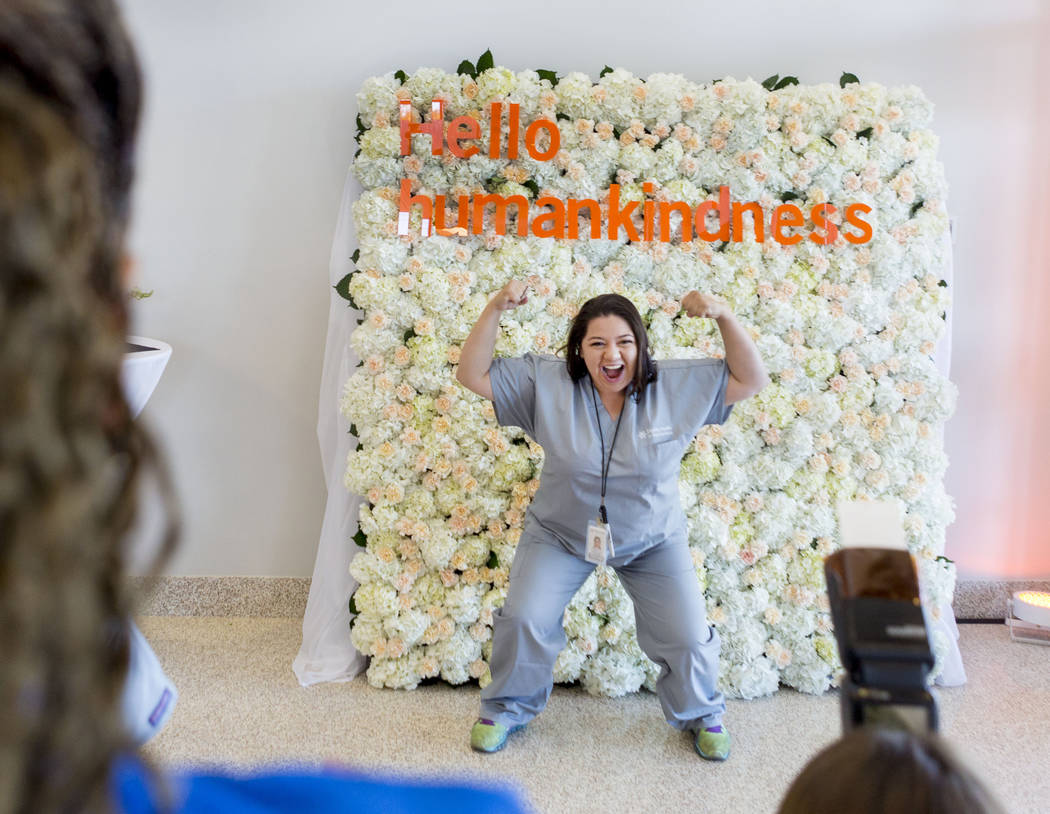 Emergency room technologist Margarita Guzman is photographed during a tour of the new Dignity Health-St. Rose Dominican North Las Vegas campus, Thursday, June 15, 2017. Elizabeth Brumley/ The Las  ...