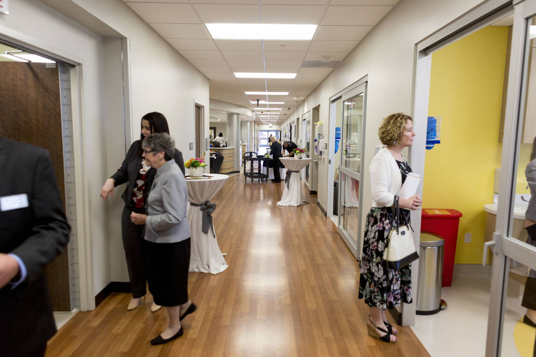 People attend a tour at the new Dignity Health-St. Rose Dominican North Las Vegas campus, Thursday, June 15, 2017. Elizabeth Brumley/ The Las Vegas Review-Journal