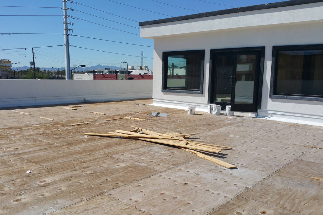 The brewery moving into 1025 S. Main St. in downtown Las Vegas later this year will feature a rooftop patio. Interior work is expected to start in September. (Wade Tyler Millward/Las Vegas Review- ...
