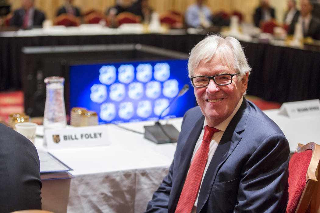 Golden Knights owner Bill Foley before the NHL Board of Governors meeting at the Encore hotel-casino on Wednesday, June 21, 2017. Patrick Connolly Las Vegas Review-Journal @PConnPie