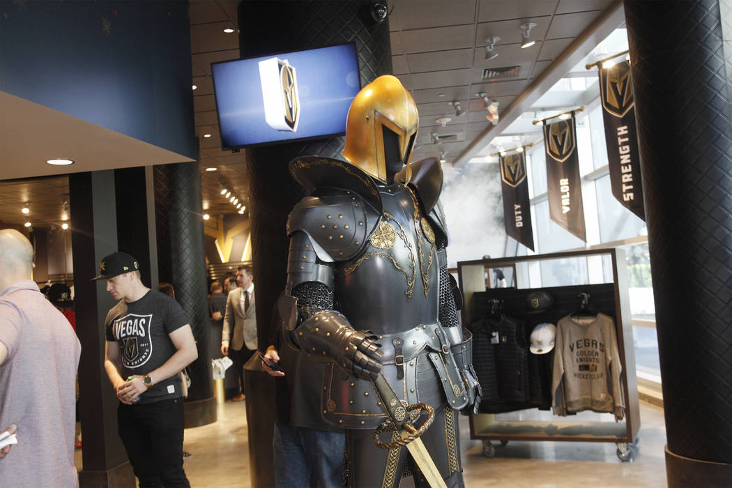 The Vegas Golden Knights team store, called the Armory, at the T-Mobile Arena on Monday, June 19, 2017, in Las Vegas. The Armory opens Tuesday at 10 a.m. Rachel Aston Las Vegas Review-Journal @roo ...