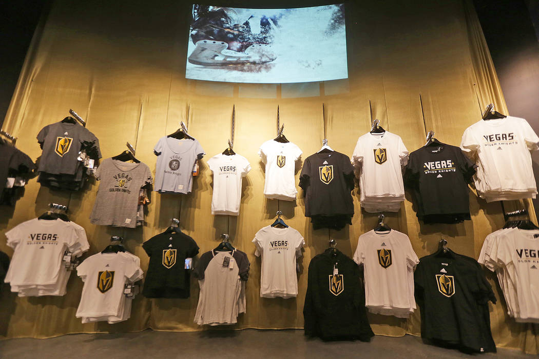 Shirts for sale at the Vegas Golden Knights team store a2dc0c5a7