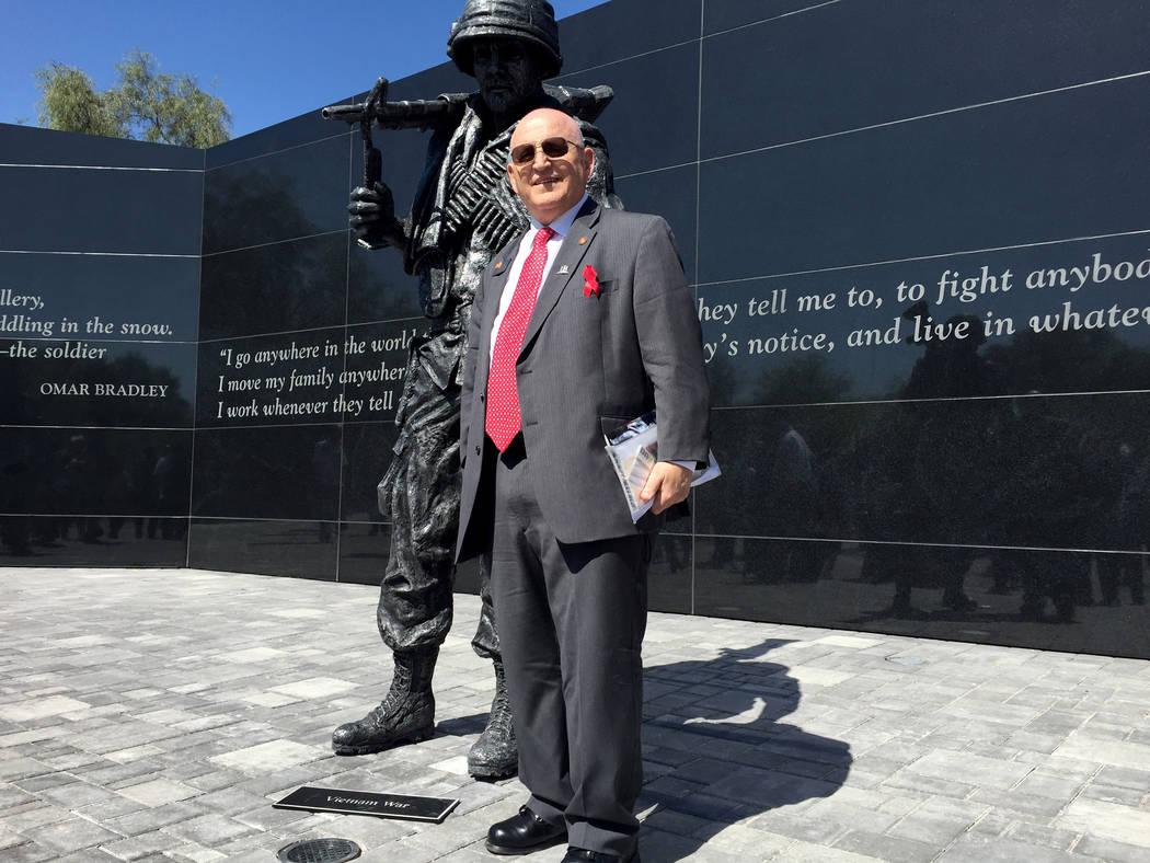 Army Ranger Hall of Fame soldier Bill Anton at the Nevada Veterans Memorial dedication, May 27, 2016, in Las Vegas. Keith Rogers Las Vegas Review-Journal