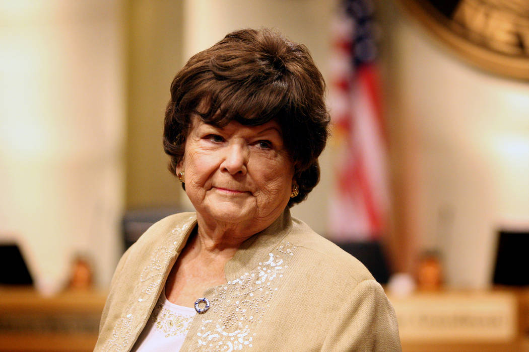 Las Vegas Councilwoman Lois Tarkanian, seen in 2015. (Michael Quine/Las Vegas Review-Journal)