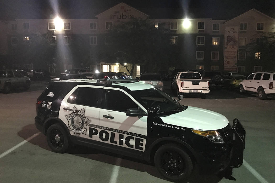 Police are investigating a fatal shooting that took place late Thursday night at The Rubix apartments, 5300 E. Craig Road. (Rachel Crosby/Las Vegas Review-Journal)