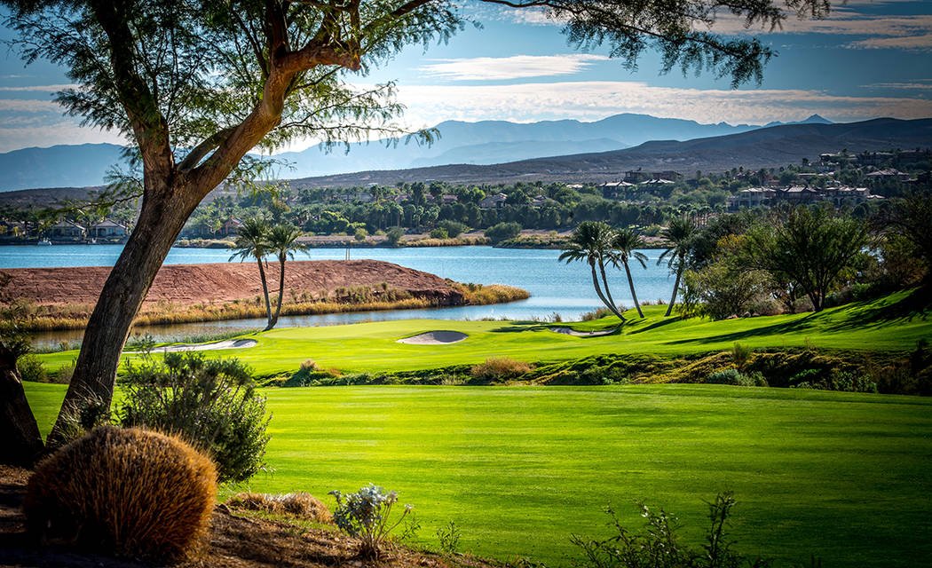 Reflection Bay Golf Club underwent a $5 million renovation of all the holes and the clubhouse. (Lake Las Vegas)