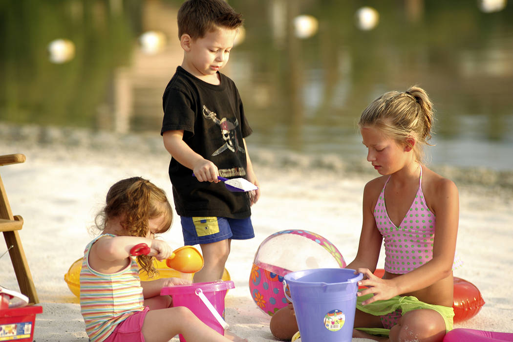 The community's beach draws families who live in the desert community near Henderson. (Lake Las Vegas)