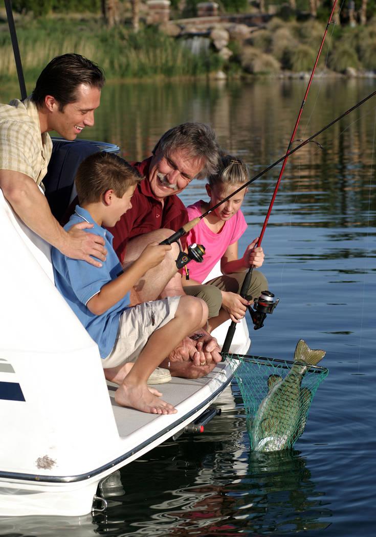 Fishing is just one family activity at Lake Las Vegas. (Lake Las Vegas)