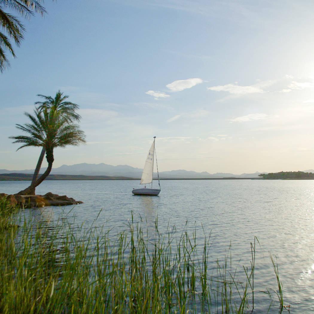 Many residents enjoy sailing on the lake. (Lake Las Vegas)