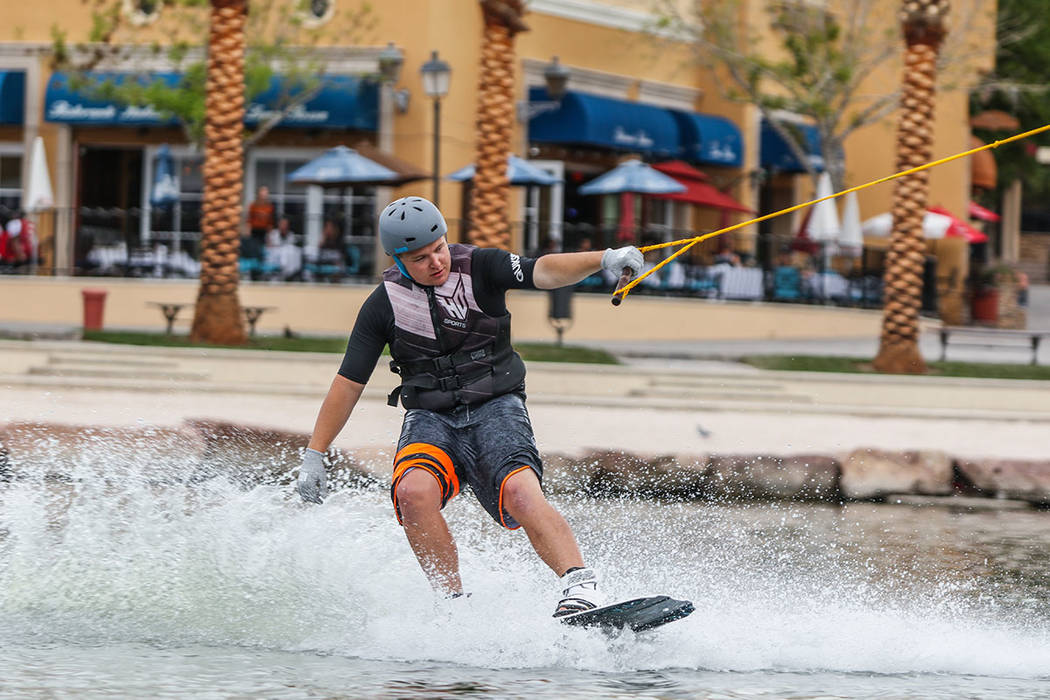 The master-planned community offers a variety of water sports. (Lake Las Vegas)