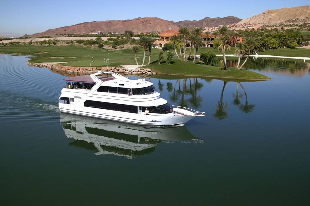 Many residents keep boats on the lake. (Lake Las Vegas)