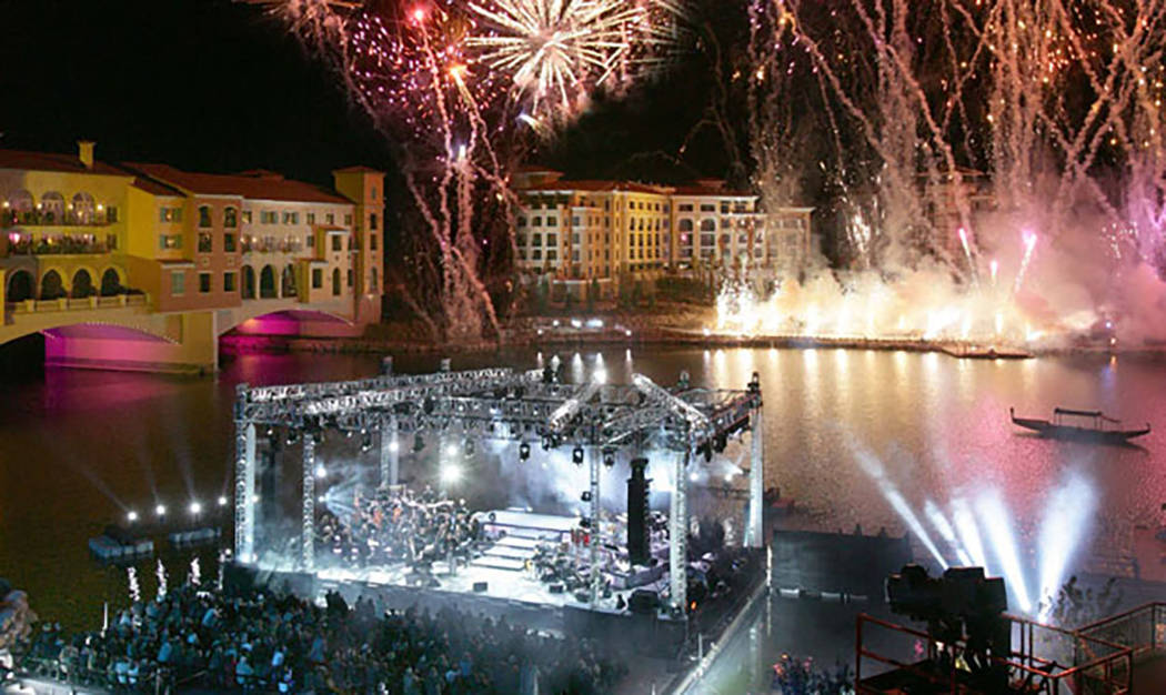 The master plan holds activites year-round. It's Fourth of July celebration draws visitors from across the valley. (Lake Las Vegas)