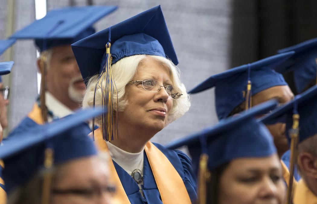 Walmart Personnel Coordinator Cheryl Spargo listens in during the Walmart Academy graduation ceremony on Tuesday, June 20, 2017. (Richard Brian/Las Vegas Review-Journal) @vegasphotograph