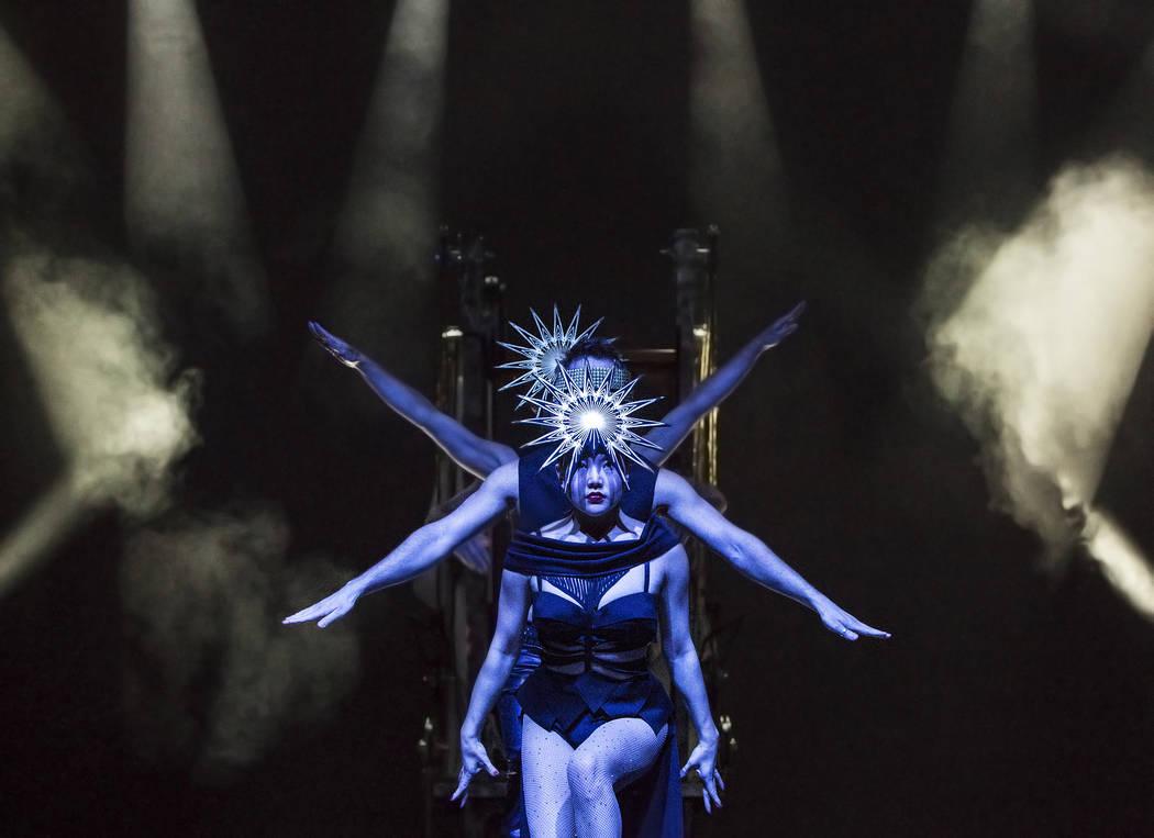 Dancers in illusionist David Goldrake's Imaginarium rehearse on Thursday, June 22, 2017, at the Tropicana Theater, in Las Vegas. Benjamin Hager Las Vegas Review-Journal @benjaminhphoto