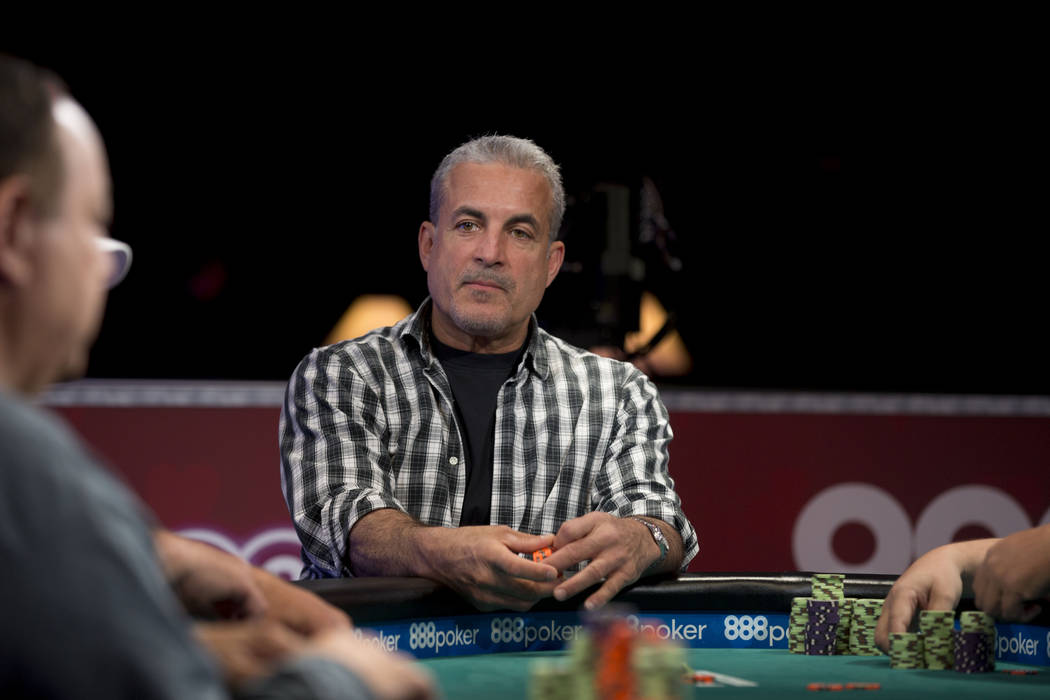 Frank Maggio plays in the $1,000  buy-in Seniors No-limit Hold 'em Championship at the Rio Convention Center in Las Vegas, Monday, June 19, 2017. Elizabeth Brumley/ The Las Vegas Review-Journal