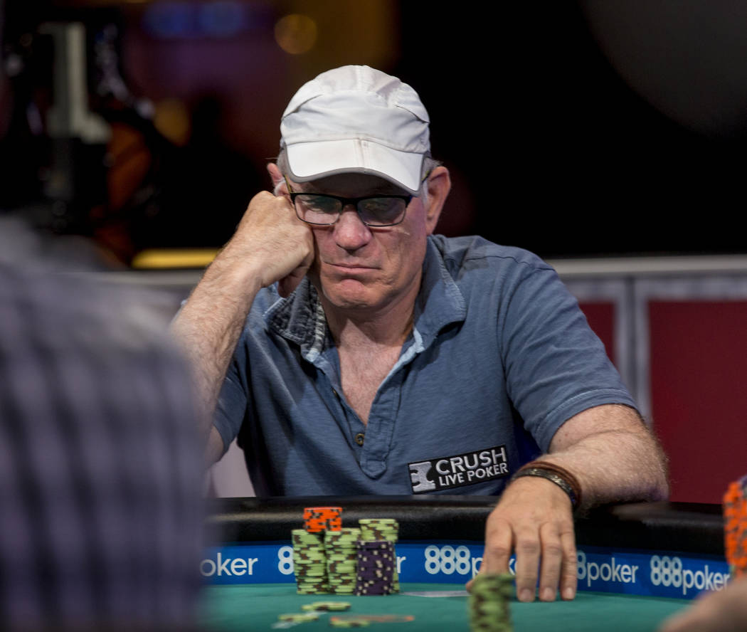 Mark Lillge plays in the $1,000  buy-in Seniors No-limit Hold 'em Championship at the Rio Convention Center in Las Vegas, Monday, June 19, 2017. Elizabeth Brumley/ The Las Vegas Review-Journal