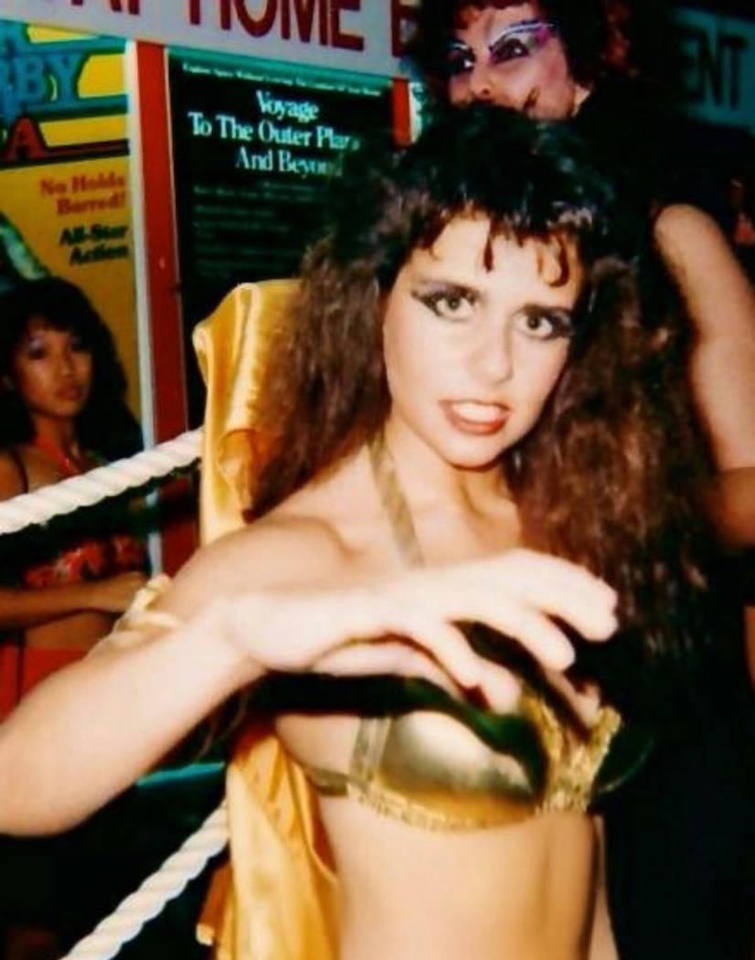 "Angelina Altishin wrestled as Little Egypt in ""GLOW: Gorgeous Ladies of Wrestling."" (courtesy Angelina Altishin)"
