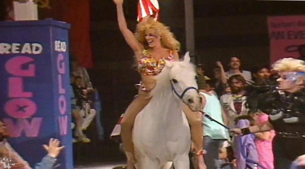 """Dawn Maestas wrestlled as Godiva in """"GLOW: Gorgeous Ladies of Wrestling."""" (courtesy Dawn Maestas)"""