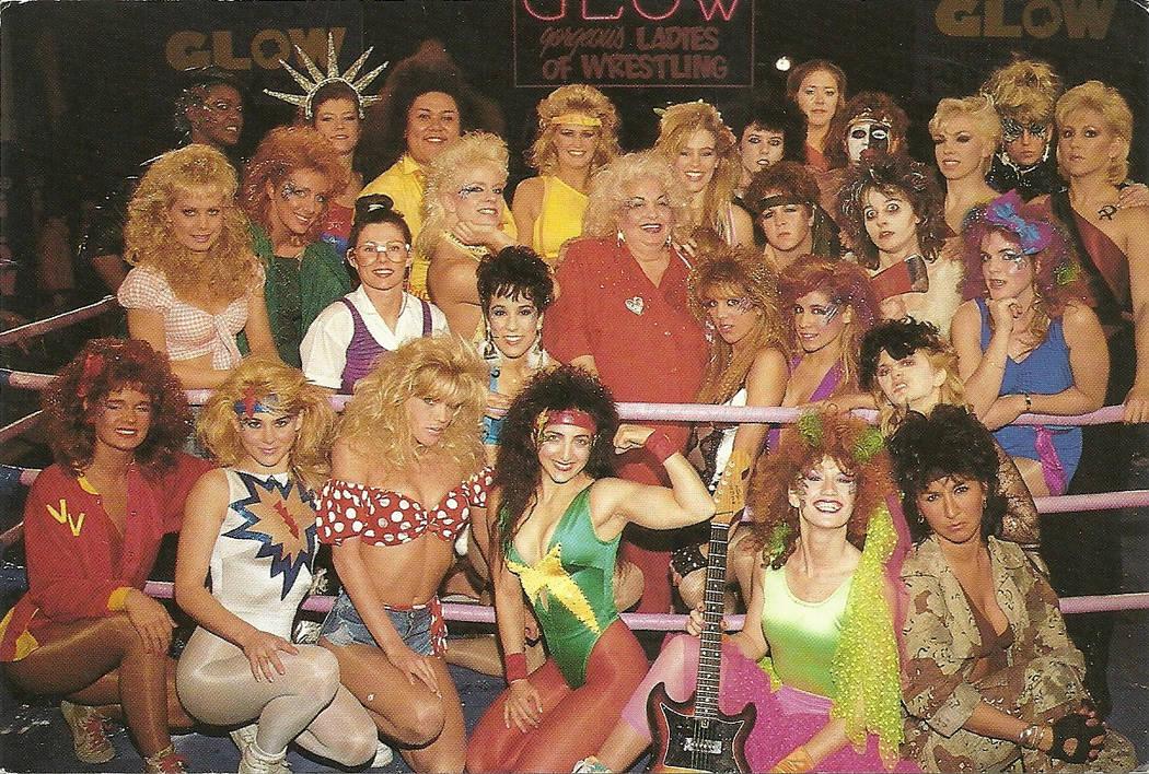 "The cast of ""GLOW: Gorgeous Ladies of Wrestling."" (courtesy gorgeousladiesofwrestling.com)"