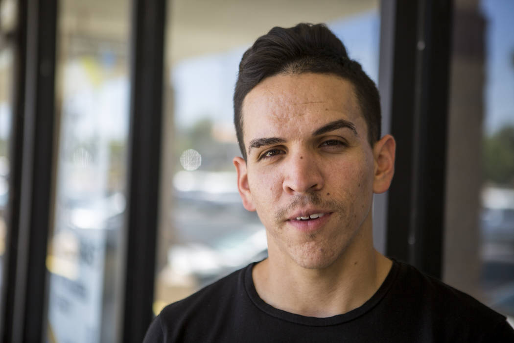 Rafael Lopez, 28, a UNLV graduate and a regional field director for an environmental justice organization, outside his workplace on East Flamingo Road on Friday, June 16, 2017.  Patrick Connolly L ...