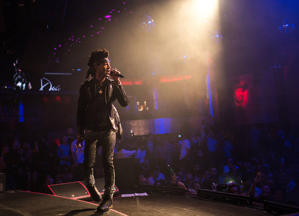 DJ Esco performs at Drai's Nightclub atop The Cromwell in Las Vegas on Thursday. (Tony Tran Photography)