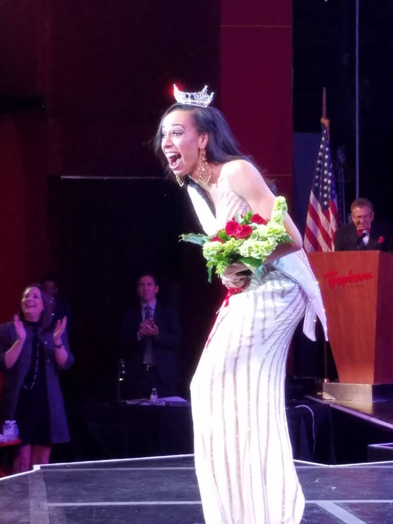 Andrea Martinez from Las Vegas was crowned Miss Nevada and won a $10,000 scholarship. (Robin Leach)
