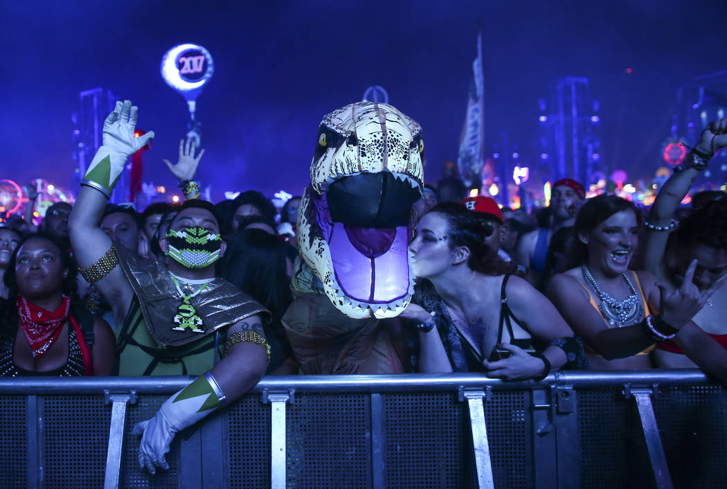 Fans enjoy Zedd at the Circuit Grounds stage during the first day of the Electric Daisy Carnival at the Las Vegas Motor Speedway on Saturday, June 17, 2017. Chase Stevens Las Vegas Review-Journal  ...