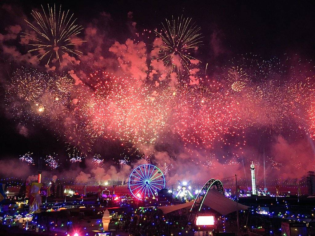 Fireworks on the second night of Electric Daisy Carnival at Las Vegas Motor Speedway on Saturday, June 17, 2017 in Las Vegas. Sarah Corsa Las Vegas Review-Journal @SarahCorsa