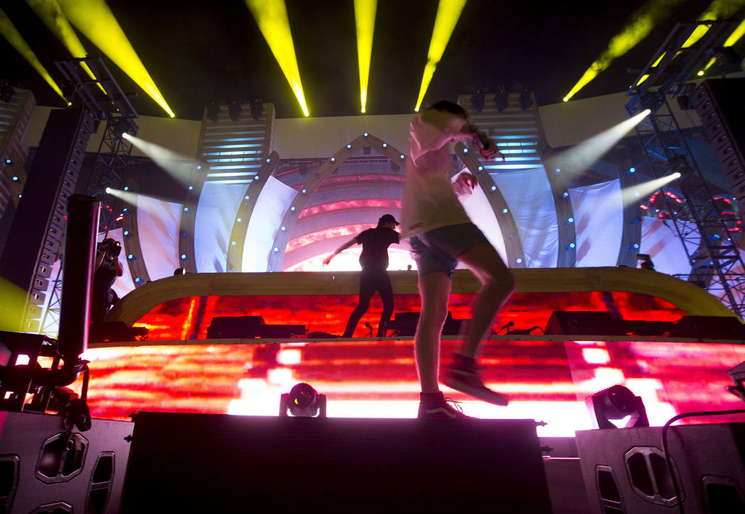 Lewis The Child performs a set at Cosmic Meadow on the second night of Electric Daisy Carnival at Las Vegas Motor Speedway on Saturday, June 17, 2017 in Las Vegas. Bridget Bennett Las Vegas Review ...