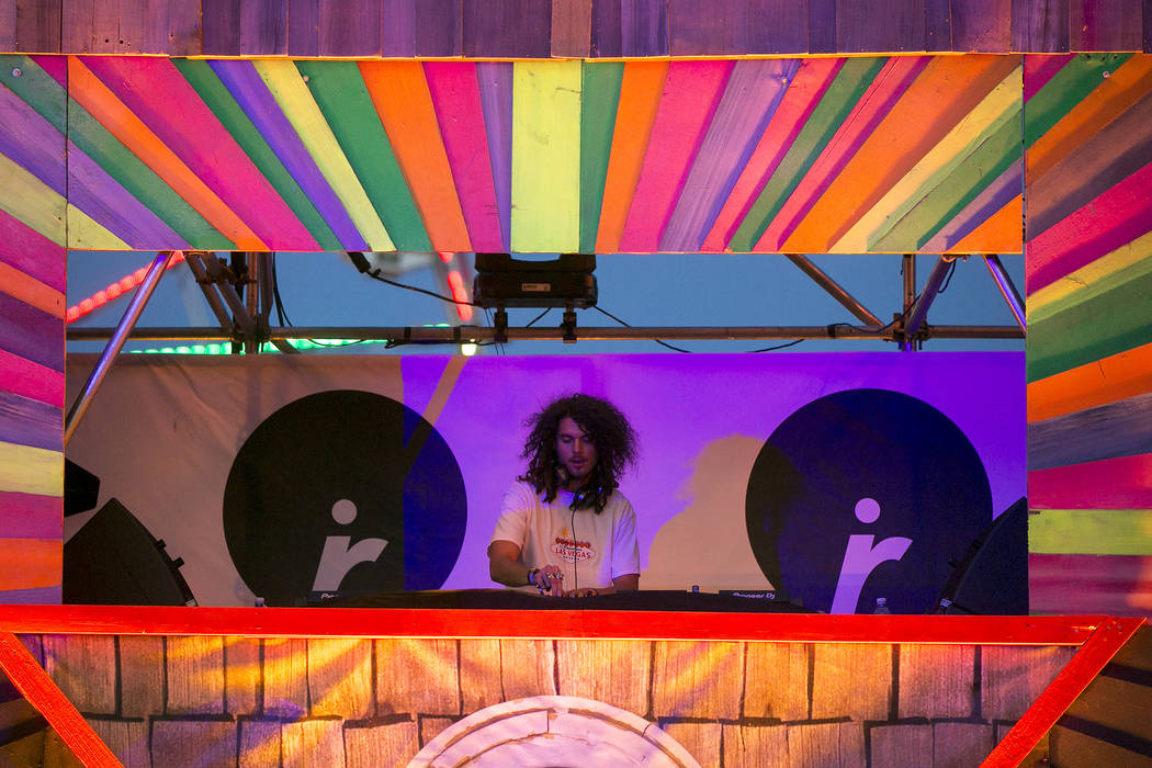 Sage Armstrong plays at the Upside-down House on the last night of Electric Daisy Carnival at Las Vegas Motor Speedway on Sunday, June 18, 2017 in Las Vegas. Bridget Bennett Las Vegas Review-Journ ...