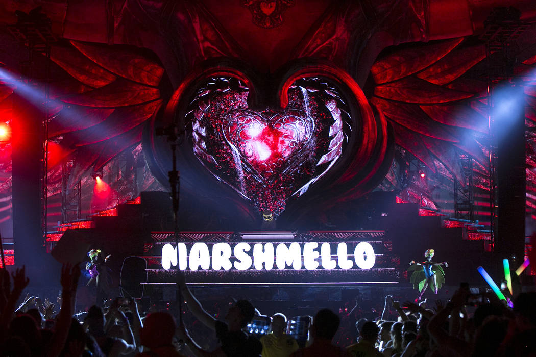 Marshmello plays a set at Kinetic Field on the last night of Electric Daisy Carnival at Las Vegas Motor Speedway on Monday, June 19, 2017 in Las Vegas. Bridget Bennett Las Vegas Review-Journal @br ...