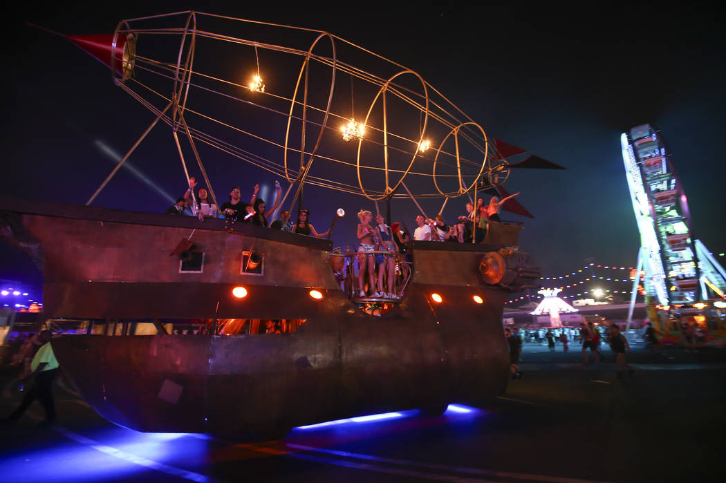 The Wench art car during the last day of the Electric Daisy Carnival at the Las Vegas Motor Speedway on Sunday, June 18, 2017. Chase Stevens Las Vegas Review-Journal @csstevensphoto