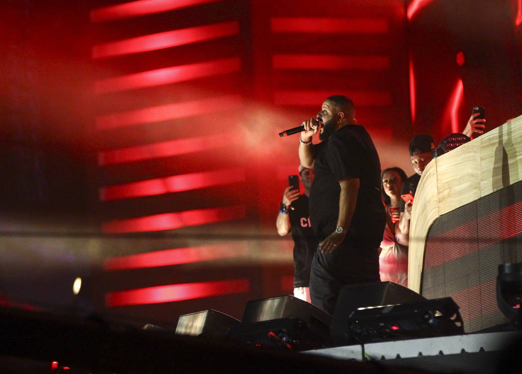 DJ Khaled performs at the Cosmic Meadow stage during the last day of the Electric Daisy Carnival at the Las Vegas Motor Speedway on Monday, June 19, 2017. Chase Stevens Las Vegas Review-Journal @c ...