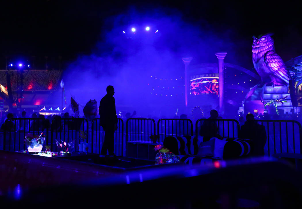 A VIP area by the Kinetic Field stage the first night of the Electric Daisy Carnival at the Las Vegas Motor Speedway on Friday, June 16, 2017. Chase Stevens Las Vegas Review-Journal @csstevensphoto