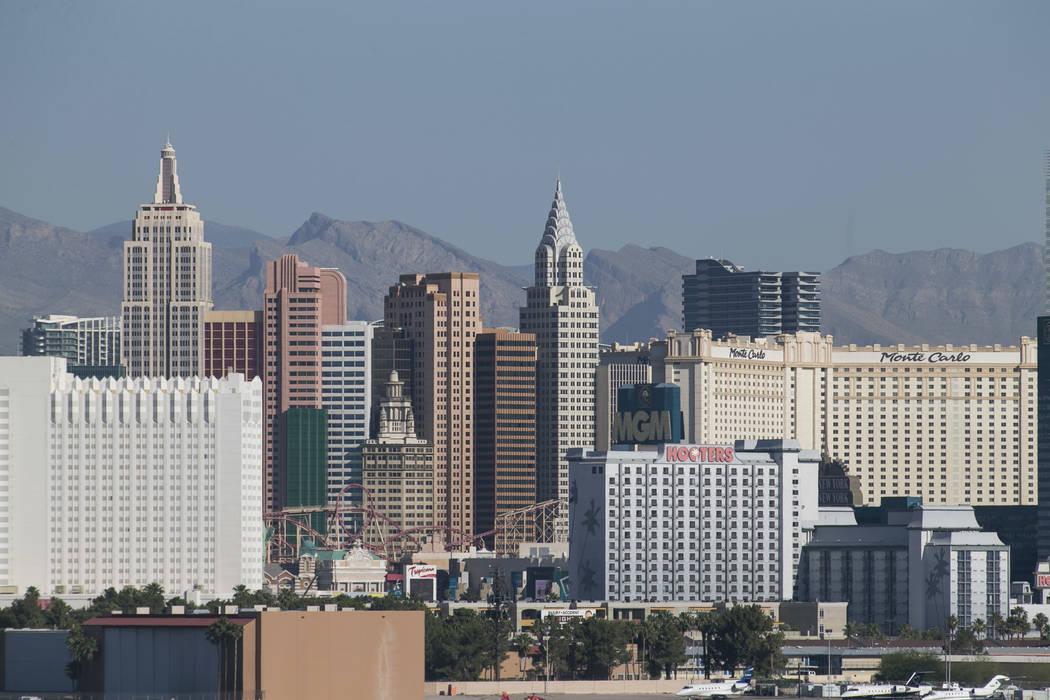 The Las Vegas Strip skyline as seen from McCarran in Las Vegas on Thursday, June 1, 2017. Richard Brian Las Vegas Review-Journal @vegasphotograph