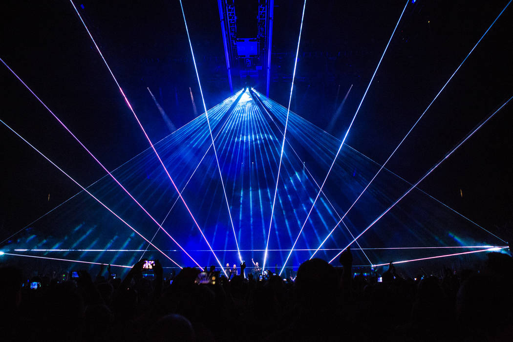 """Roger Waters' """"Us + Them"""" tour stop Friday at T-Mobile Arena seemed at times to alternate between """"us"""" and """"him.""""  (Kate Izor)"""