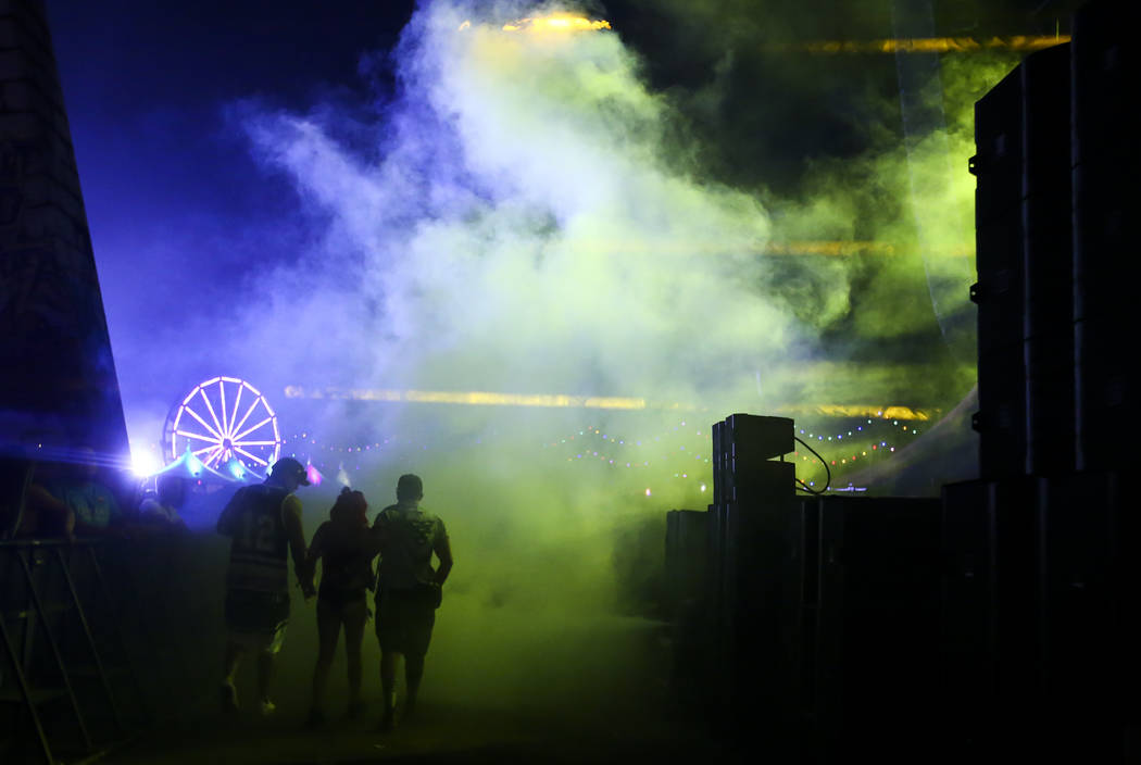 The Wasteland stage during the first day of the Electric Daisy Carnival at the Las Vegas Motor Speedway on Saturday, June 17, 2017. Chase Stevens Las Vegas Review-Journal @csstevensphoto