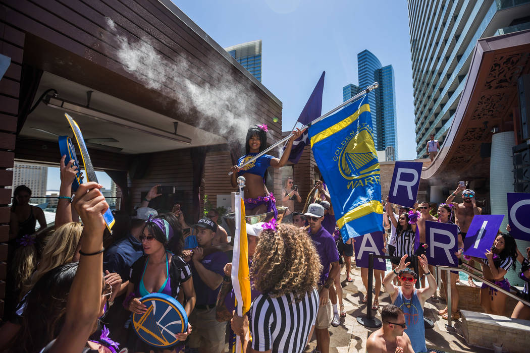 The scene at Marquee Dayclub as the Golden State Warriors celebrate their Warriors' NBA championship on Friday, June 16, 2017. (Tony Tran Photography)