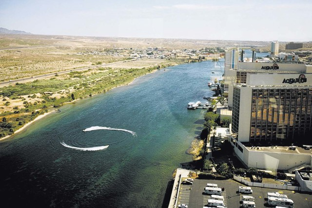 The Colorado River, the dividing line between the towns of Laughlin and Bullhead City, Ariz., file photo. (Jeff Scheid/Las Vegas Review-Journal)