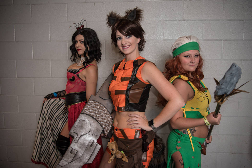 Brittany Hastings, Amanda Liguori, and Megan Siana at Las Vegas Comic Con on Saturday, June 24, 2017, at the Las Vegas Convention Center in Las Vegas. Morgan Lieberman Las Vegas Review-Journal